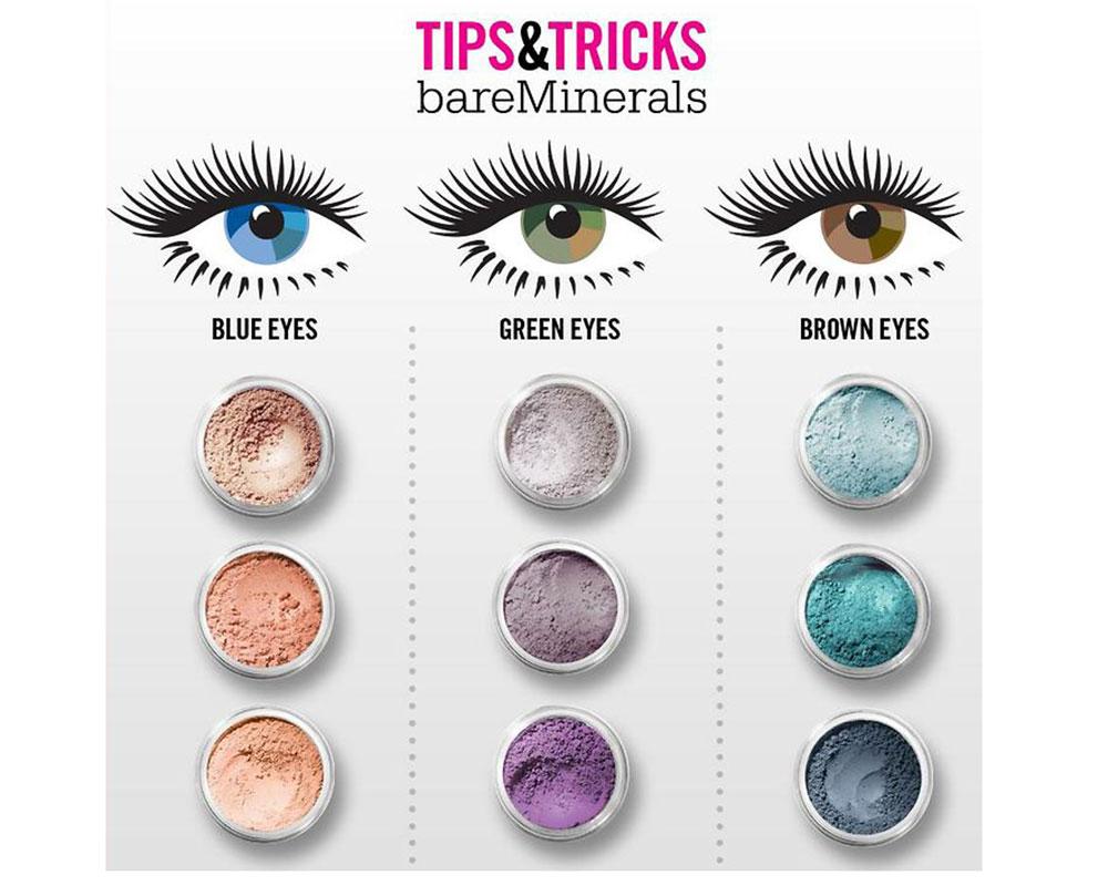 Палитра цветов для макияжа зеленых глаз
