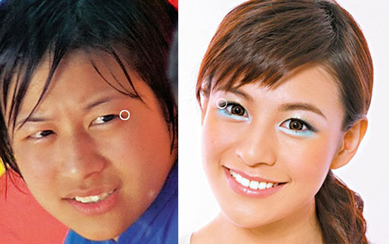 elanne-kwong-before-after-makeup-eyelid-tape