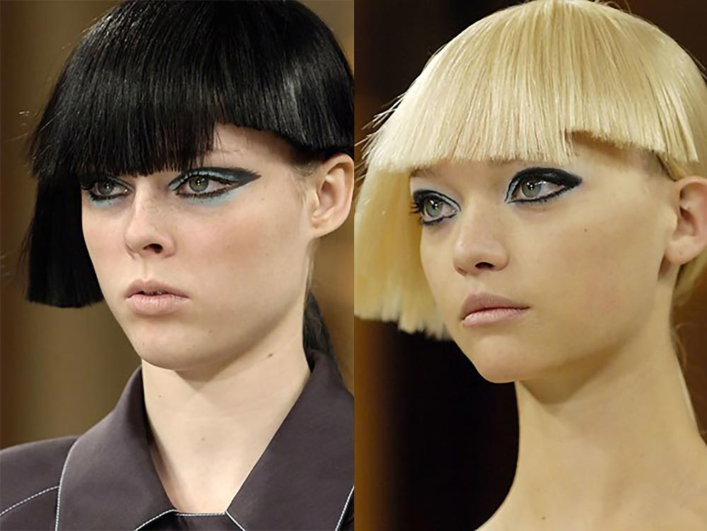 Turquoise eye and graphic liner at Karl Lagerfeld Spring 2007