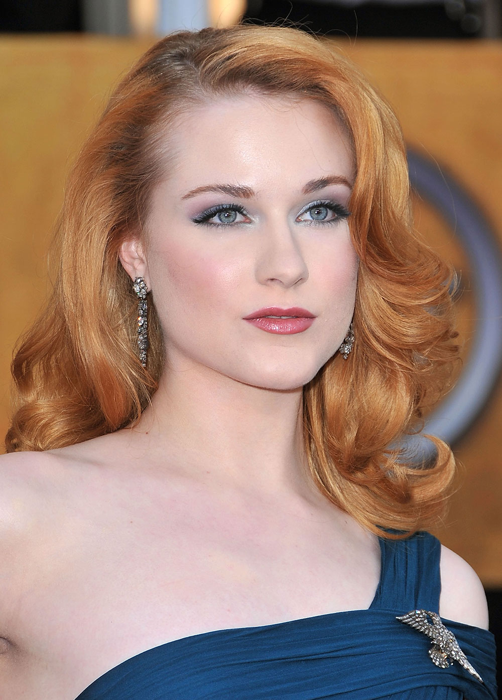 Evan Rachel Wood makeup at 2009 SAF Awards