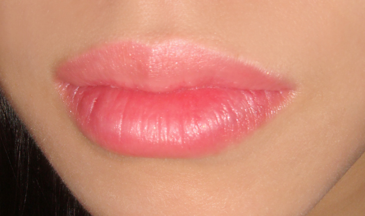 Wearing MAC Loving Touch See Thru Lip Colour