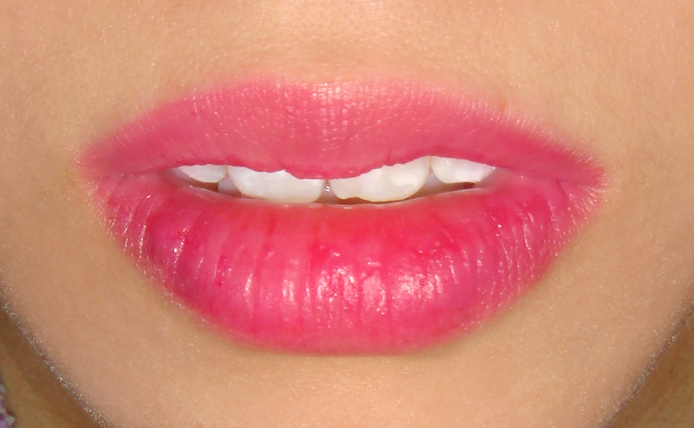 Wearing MAC Secret Crush See Thru Lip Colour