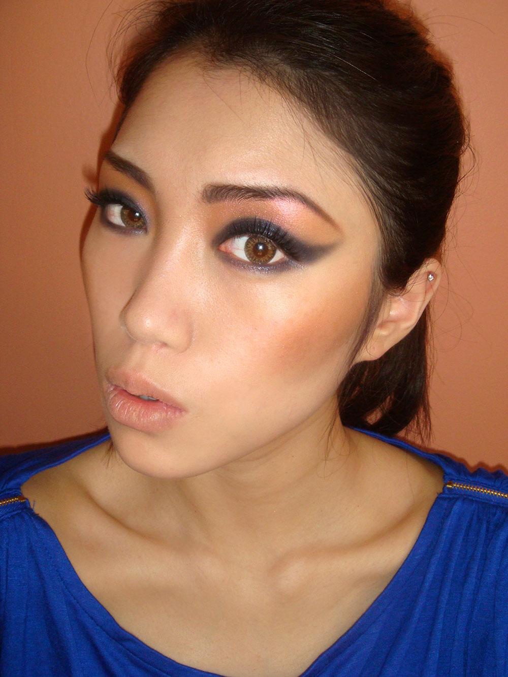 Fotd 80s Inspired Strong Cat Eye Makeup Look