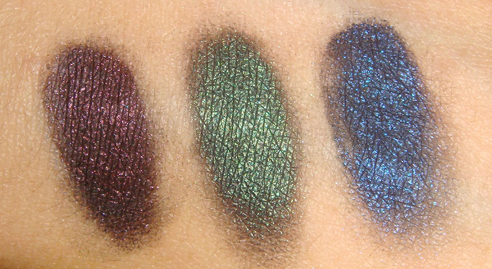 NARS Night Series Eyeshadow swatches