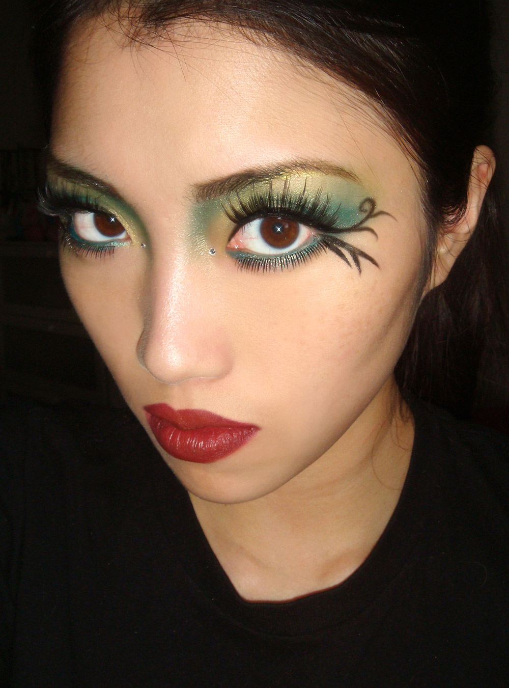 green-fairy-halloween-makeup