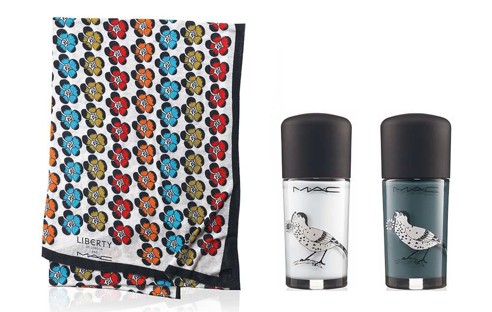 MAC Give Me Liberty of London Collection Scarf and Nail Lacquers