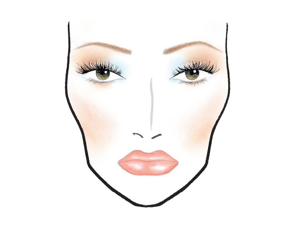 MAC In The Scene makeup face chart