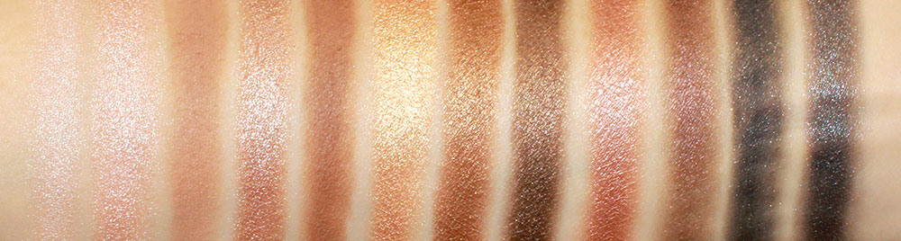 Urban Decay Naked Palette Eyeshadow Swatches