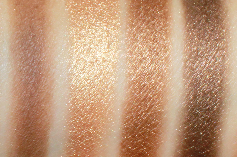 Urban Decay Naked Palette Buck, Half Baked, Smog and Darkhorse Eyeshadow Swatches