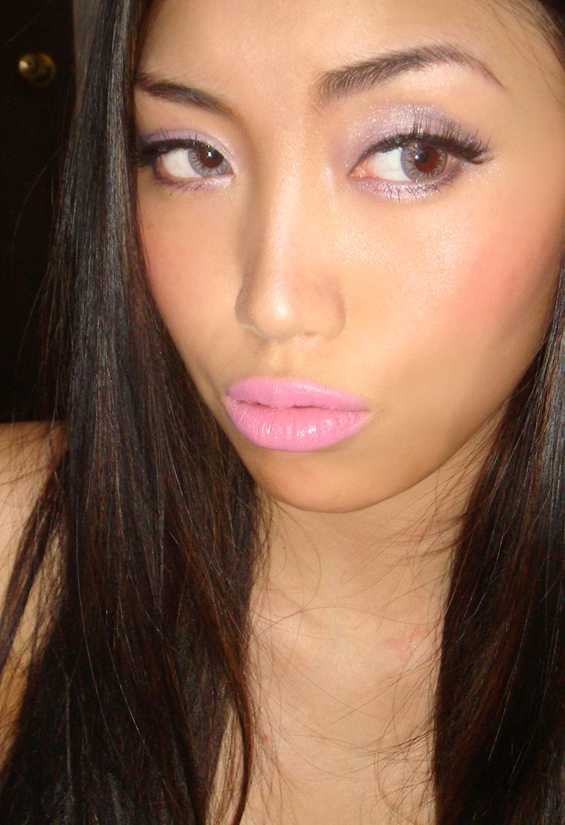 Wearing MAC Pink Friday Lipstick
