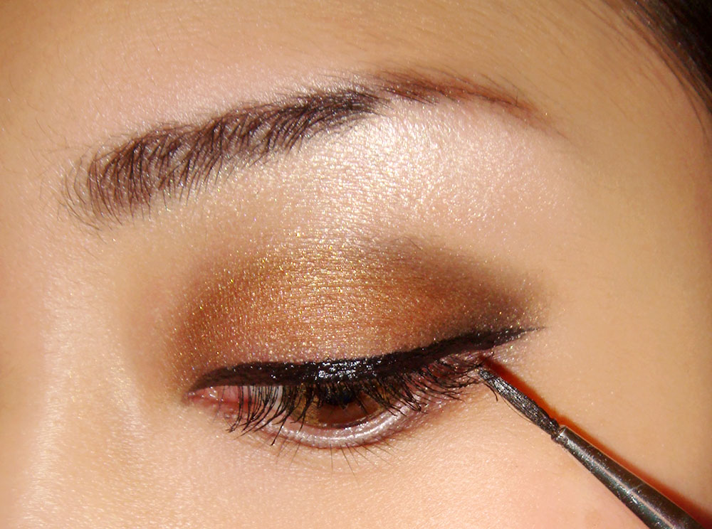 Brown smokey eye makeup tutorial