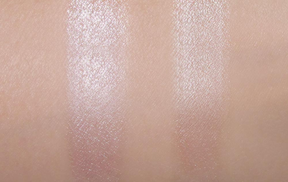 NARS Copacabana Illuminator and NARS Copacabana Multiple swatch comparison