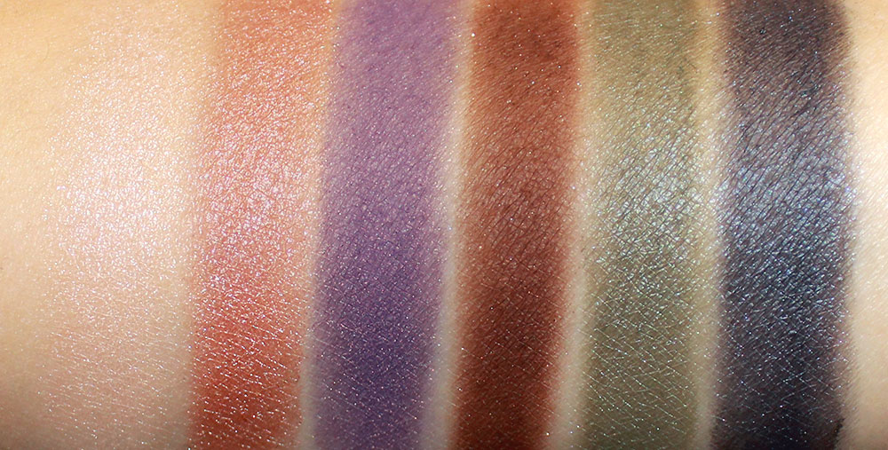 NARS BAbyssinia, Silk Road II, Strada, Galapagos, Fuji and Brumes II Eyeshadow Swatches
