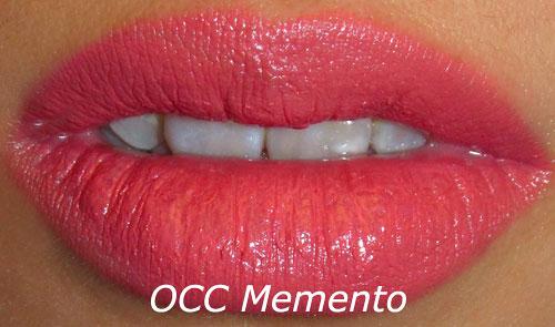 OCC Memento Lip Tar Swatch