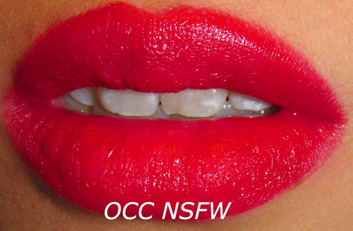 OCC NSFW Lip Tar Swatch