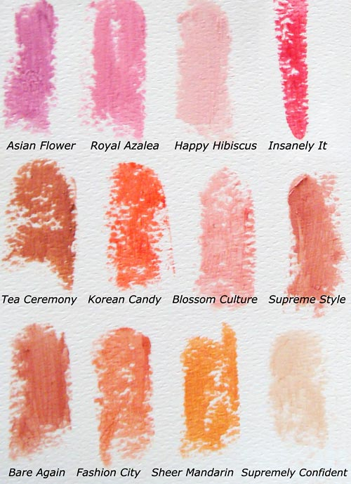 Swatches of MAC Seasonally Supreme Sheen Supreme Lipsticks