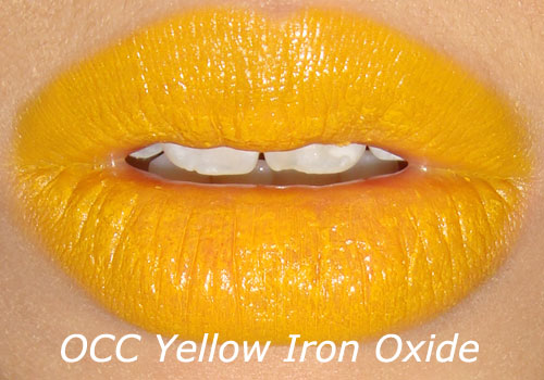 OCC Yellow Iron Oxide Lip Tar Swatch