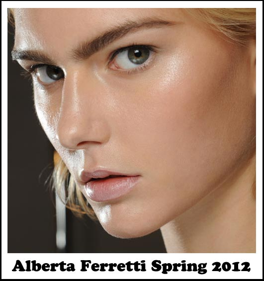 Makeup at Alberta Ferretti Spring 2012