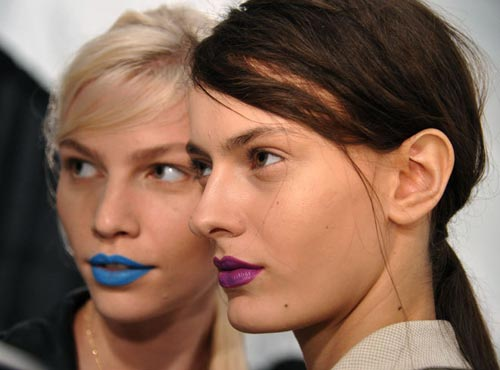 Backstage makeup at Richard Chai Love S/S 2012 show