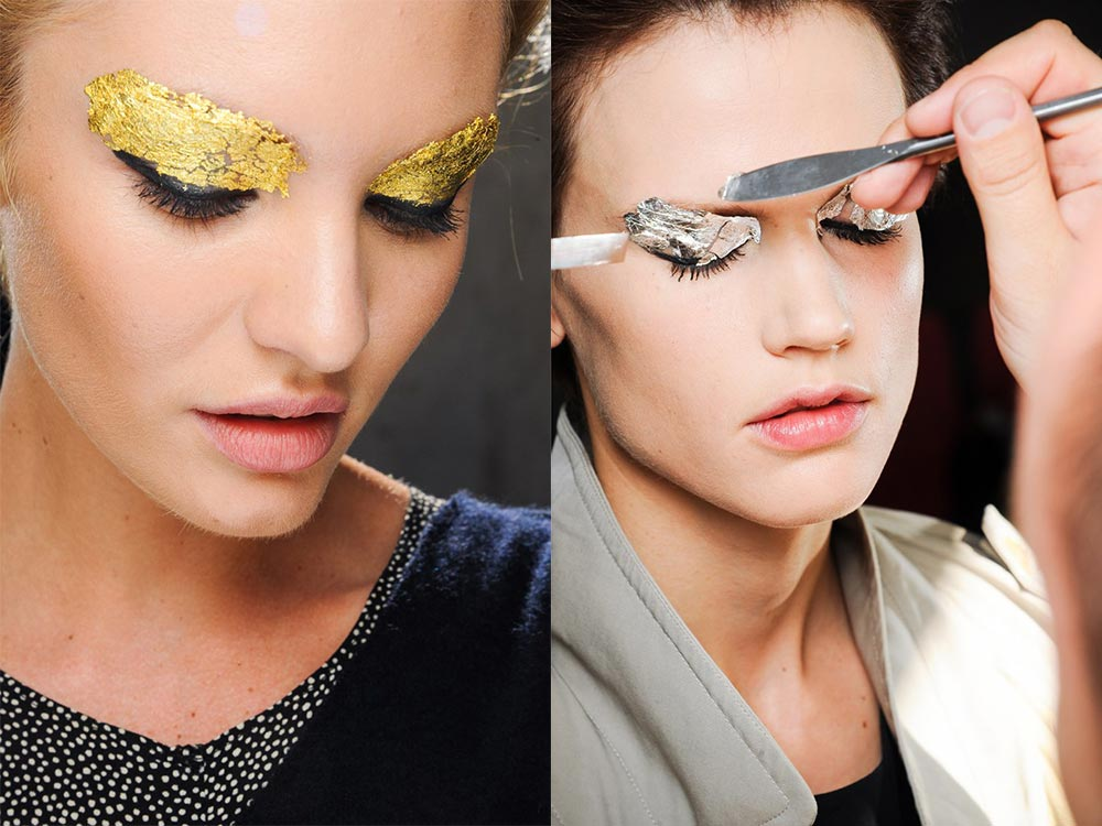 Runway makeup at Fendi Spring 2012