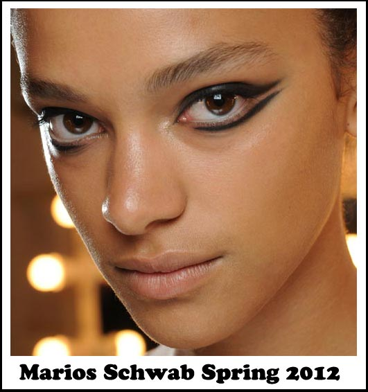 Feline eyes at Marios Schwab Spring 2012