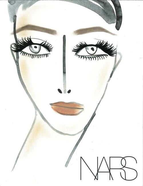NARS makeup facechart at Marc Jacobs Spring 2012