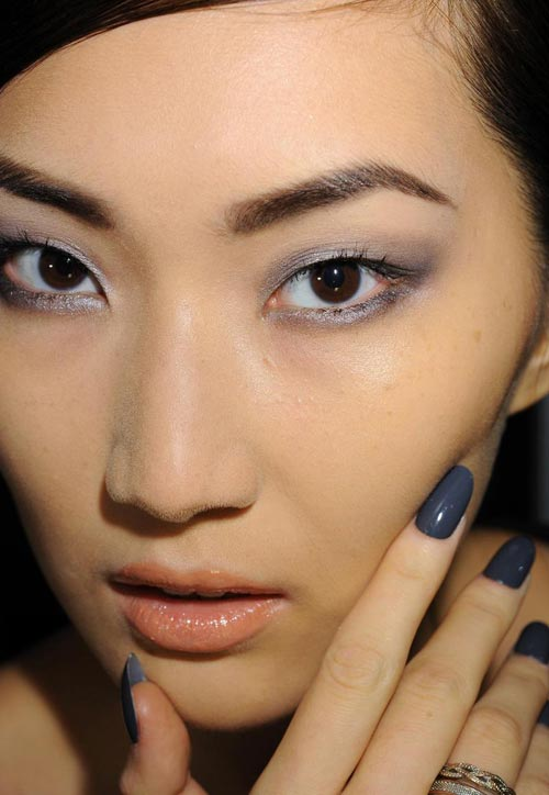 Makeup and nails at Naeem Kahn Spring 2012