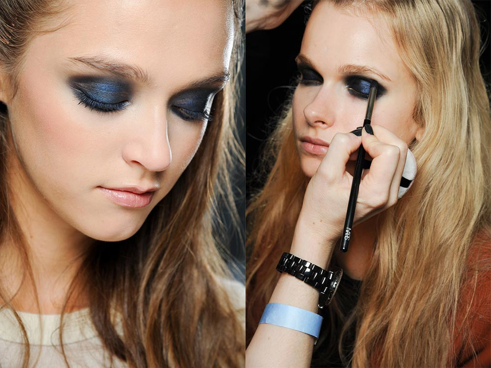 Blue smoky eyes at Rodarte Spring 2012 show