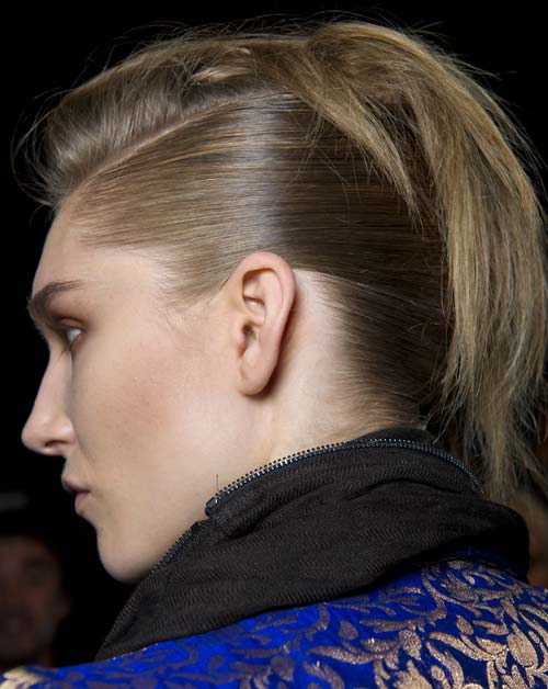 Hair at Haider Ackermann Spring/Summer 2012