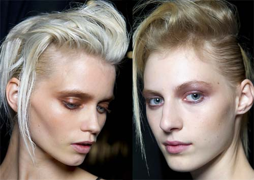 Hair and makeup at Haider Ackermann Spring/Summer 2012