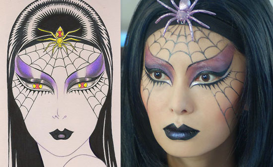 halloween-spider-makeup