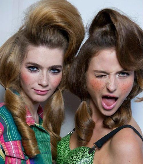 Barbie hair at Jeremy Scott Spring 2012