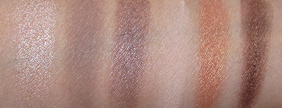 Smashbox Fizz, Pebble, Minx, Vanilla, Ignite, Sienna swatches