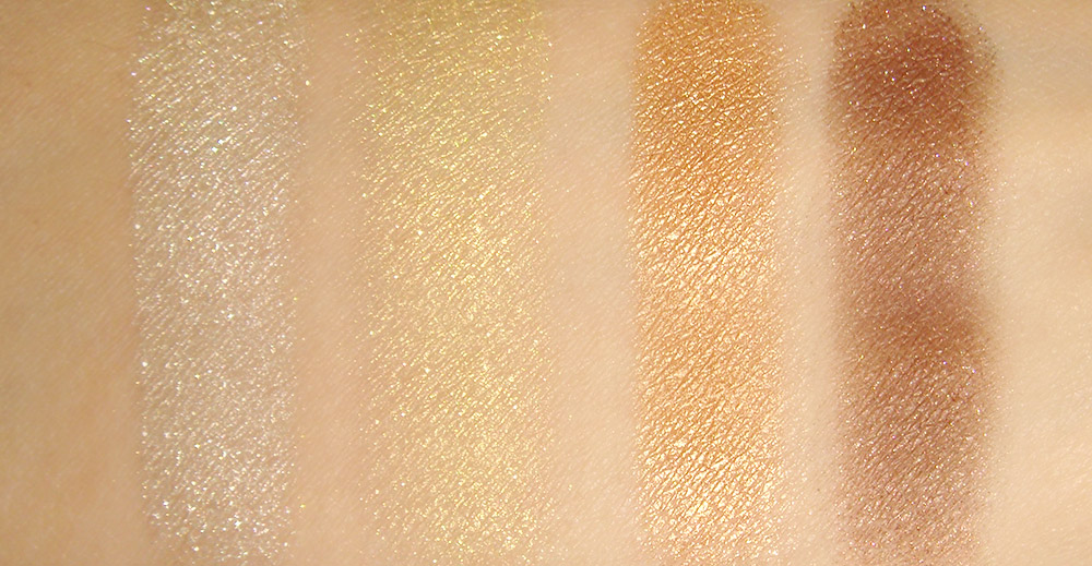 Swatches of Maybelline Give Me Gold Eye Studio Color Plush Silk Eyeshadow