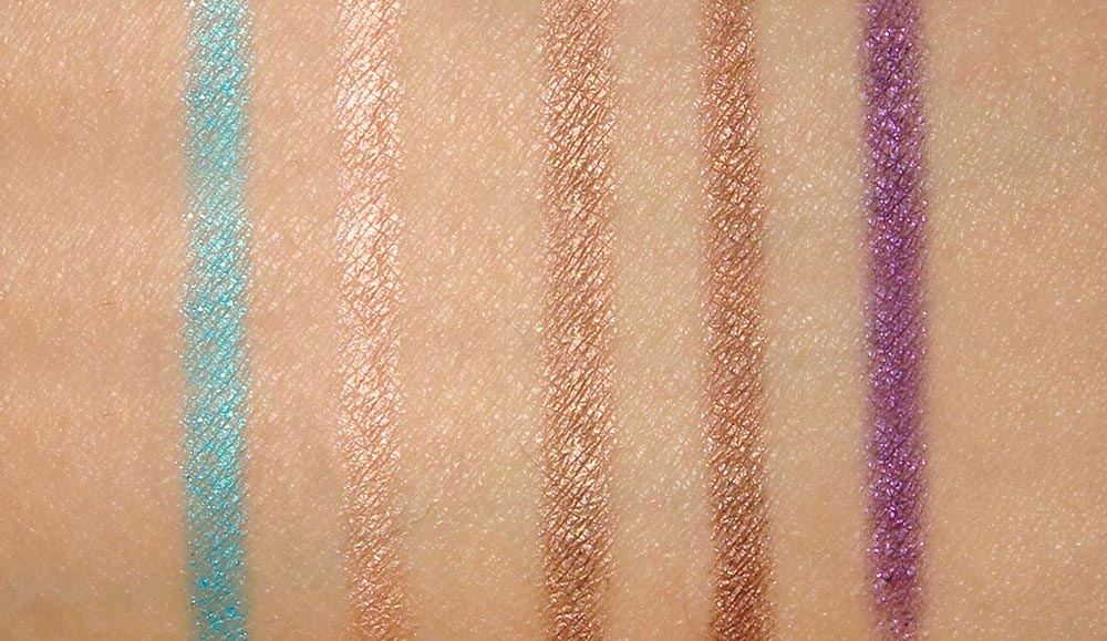 Urban Decay 24/7 Glide-on Shadow Pencil Swatches