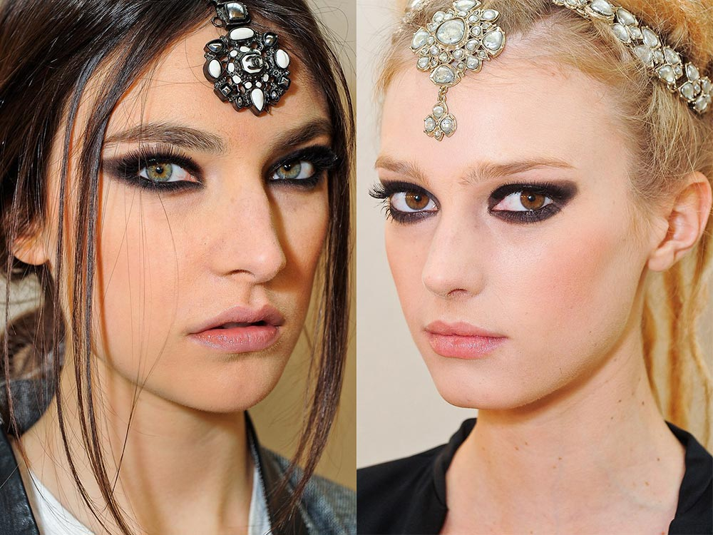 Chanel Pre-fall 2012 Indian-inspired makeup look
