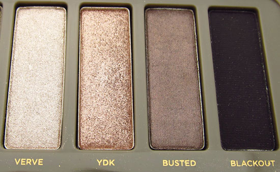 Urban Decay Naked 2 Verve YDK Busted and Blackout shadows