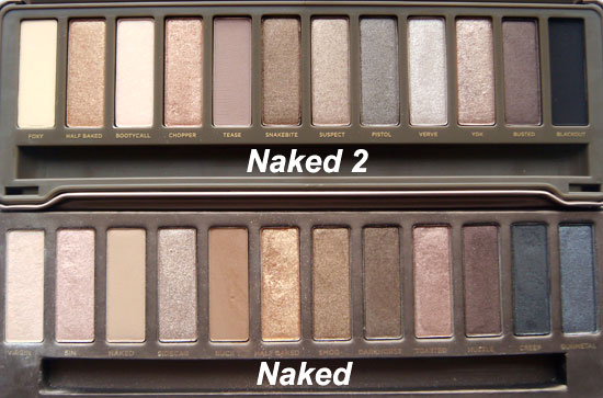 Urban Decay Naked and Naked 2 Palettes