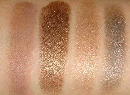 Urban Decay Naked 2 Tease Snakebite Suspect and Pistol swatches