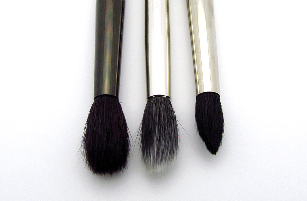 MAC 224, 286 and 226 makeup brushes comparison