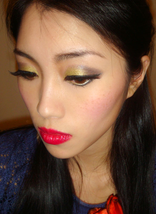 Wearing NARS Paramaribo Duo, Lhasa Eyeshadow, Gaiety Blush and Mexican Rose Velvet Gloss Lip Pencil