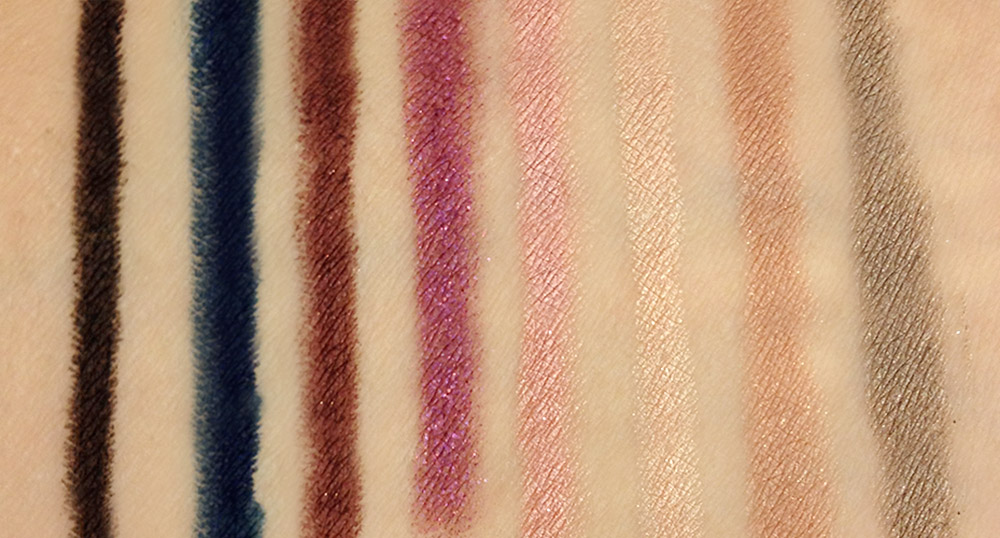Stila Smudge Crayon swatches