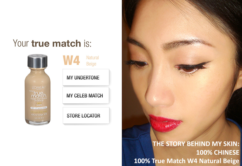 Wearing L'oreal True Match Super Blendable Makeup and True Match Powder in W4 Natural Beige