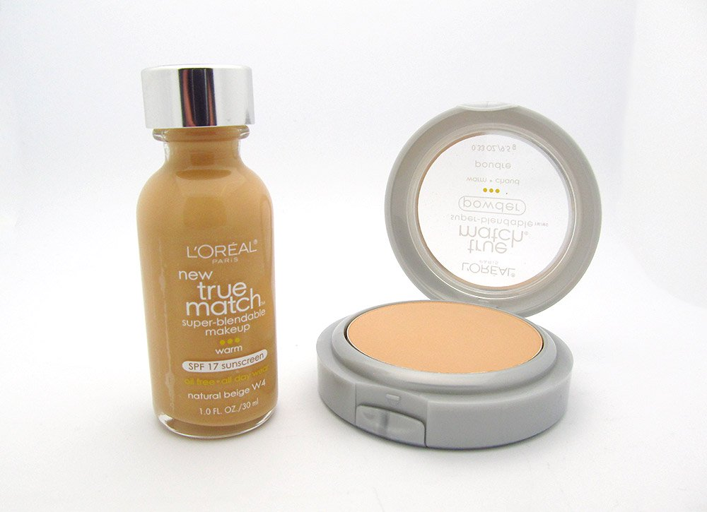 L'oreal True Match Super Blendable Makeup and True Match Powder in W4 Natural Beige