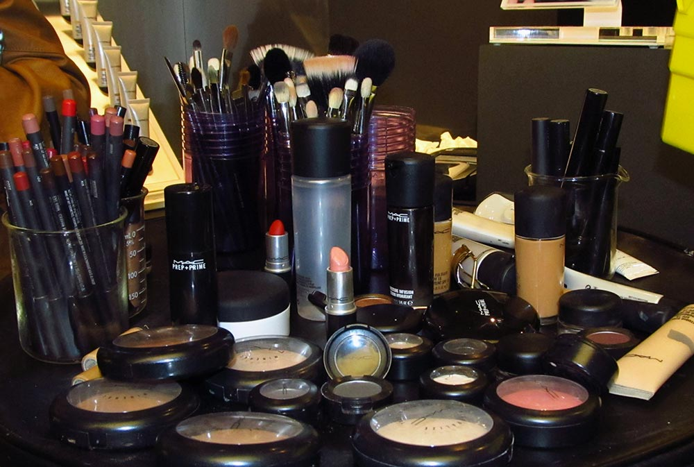 Makeup products used during MAC Pro Eras Reinterpreted Masterclass