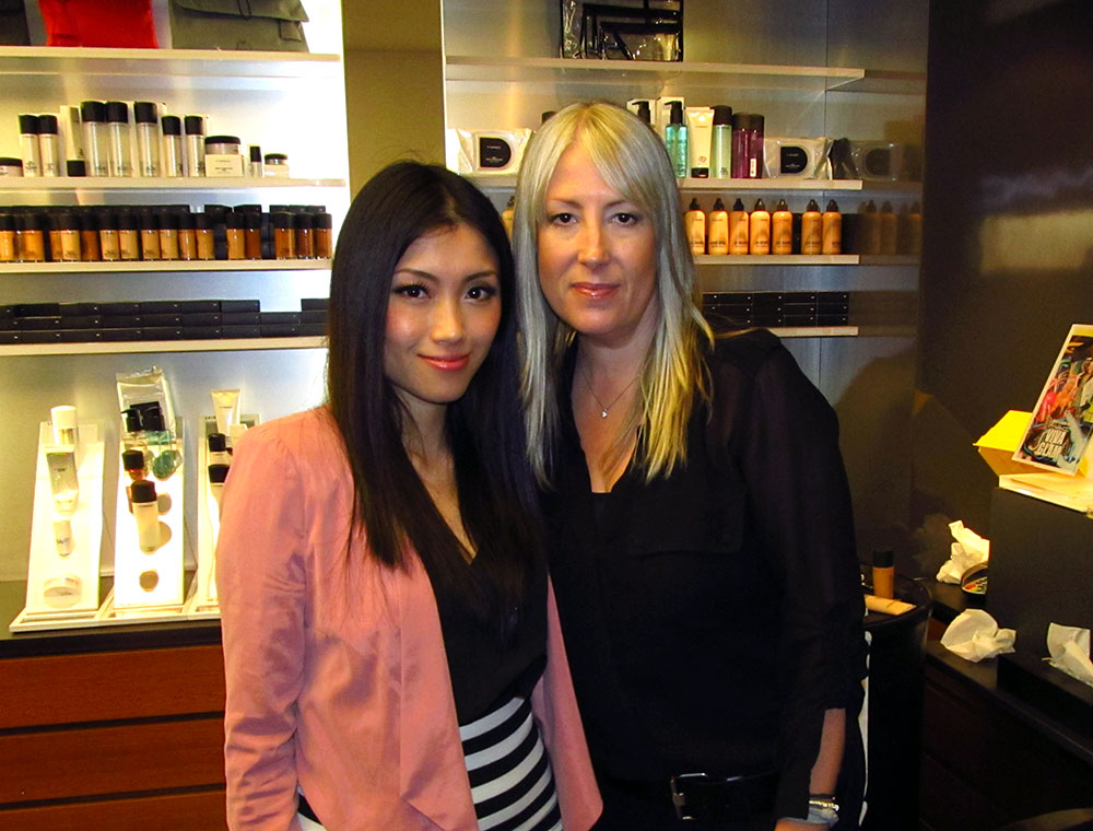 With MAC Senior Artist Melissa Gibson during MAC Pro Masterclass