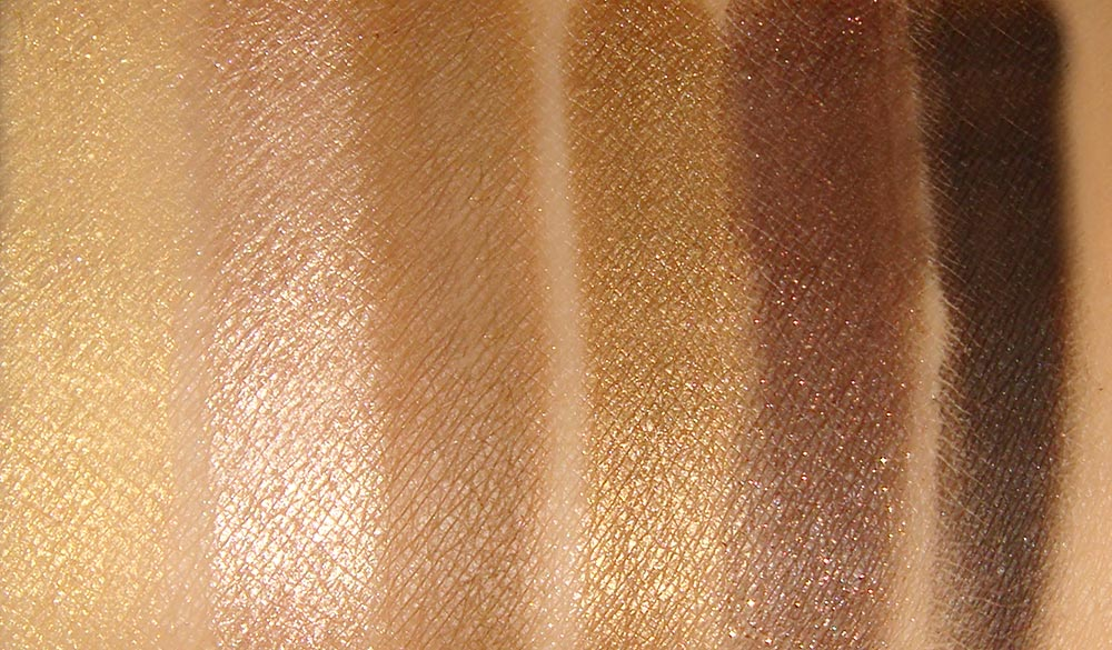 theBalm Nude 'tude Nude Eyeshadow Palette Snobby, Stand-offish, Sultry, Schitzo, Silly and Sleek swatches
