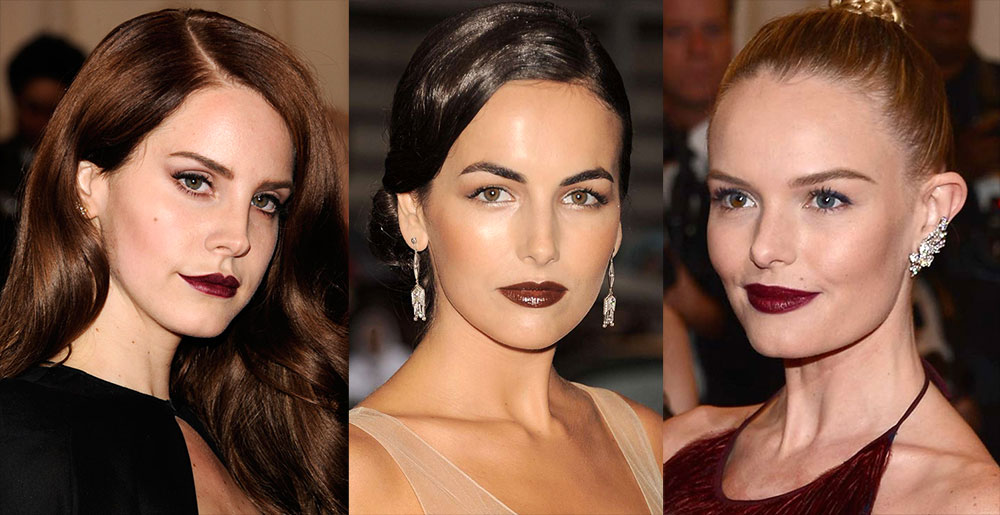 Dark vampy lipstick at 2012 MET Ball