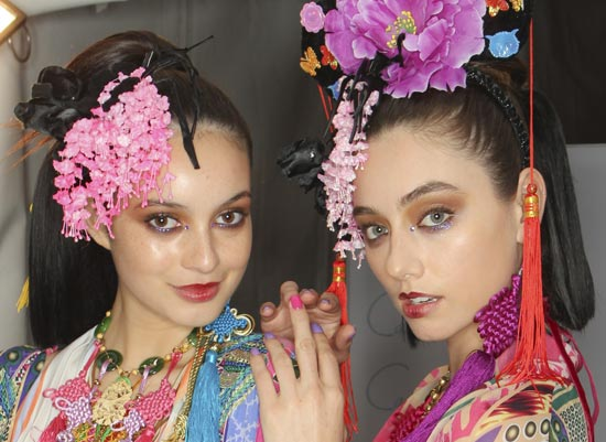 Gypsy inspired makeup at Camilla MBFWA Spring 2012/2013