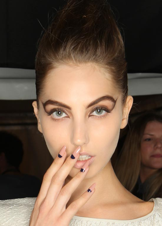 Strong eyebrows at Toni Maticevski MBFWA Spring 2012/2013